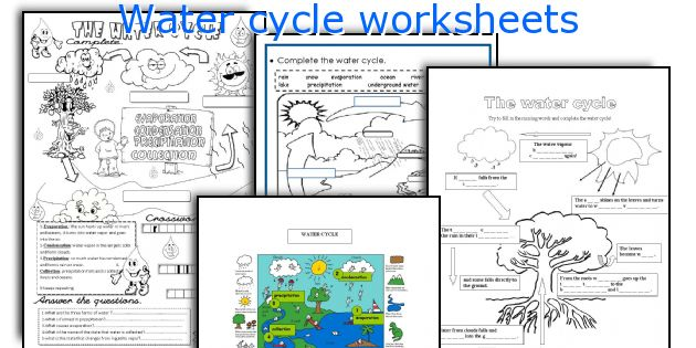 English teaching worksheets Water cycle – The Water Cycle Worksheets