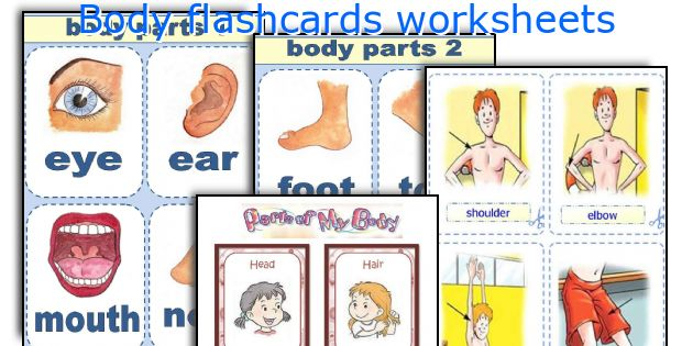 Body flashcards worksheets