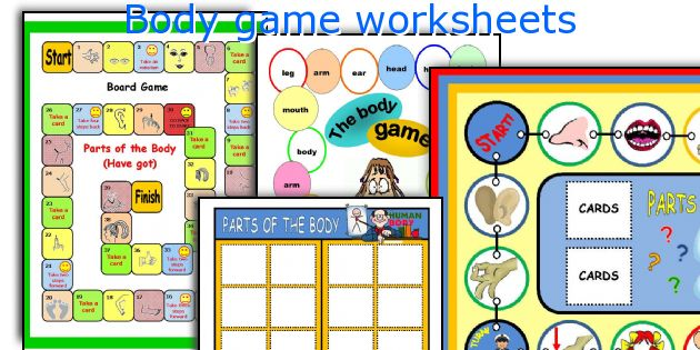 Body game worksheets
