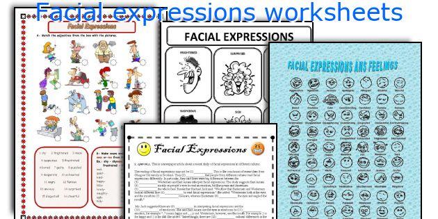 Facial expressions worksheets