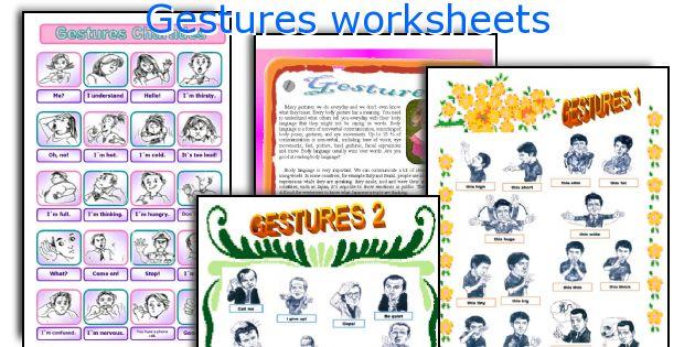 Gestures worksheets