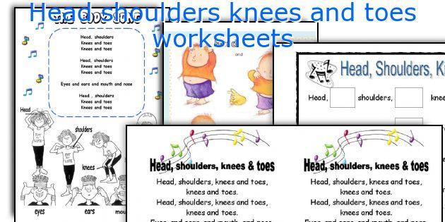 Head shoulders knees and toes worksheets