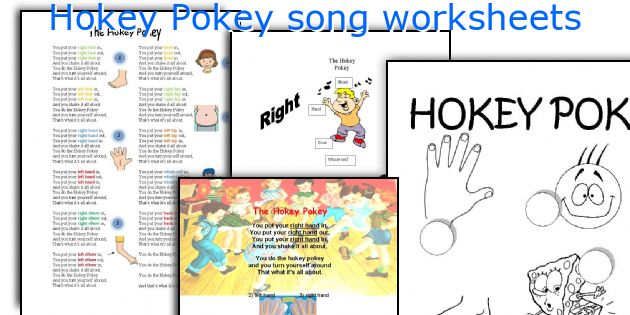 Hokey Pokey song worksheets
