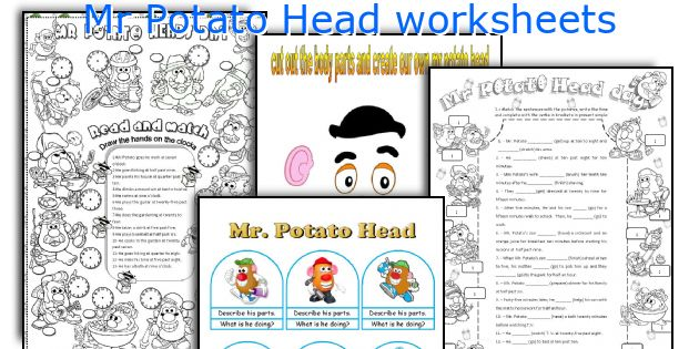 Mr Potato Head worksheets