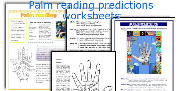 Palm reading predictions worksheets