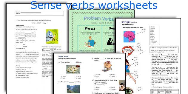 Sense verbs worksheets