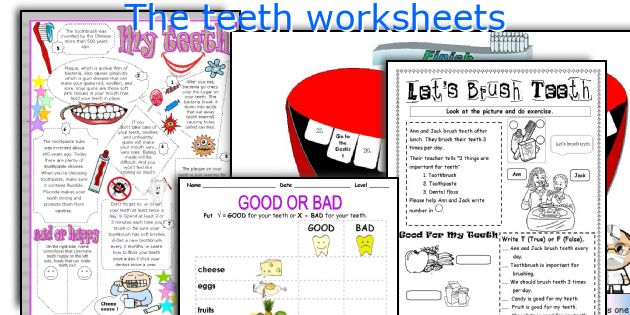 The teeth worksheets