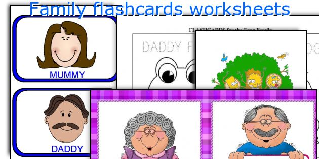 Family flashcards worksheets