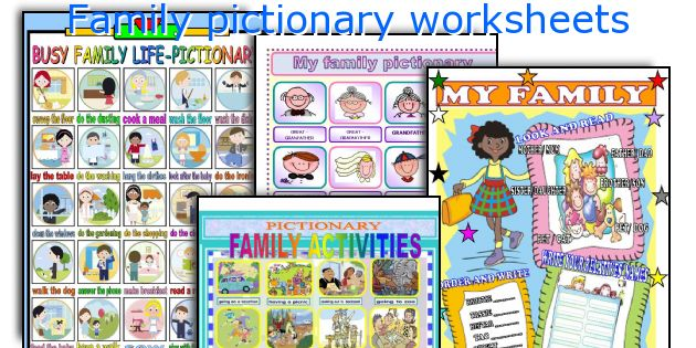 Family pictionary worksheets