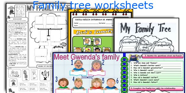 English teaching worksheets Family tree – Family Tree Worksheets