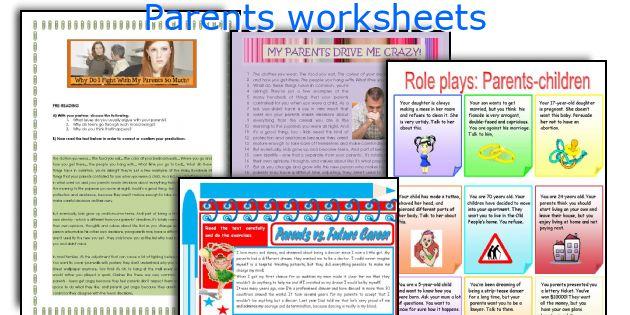 Parents worksheets