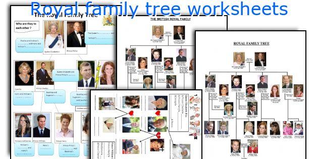 Royal family tree worksheets