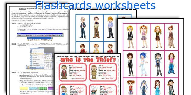 Flashcards worksheets