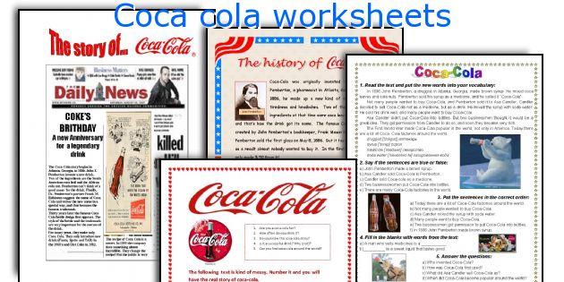 Coca cola worksheets