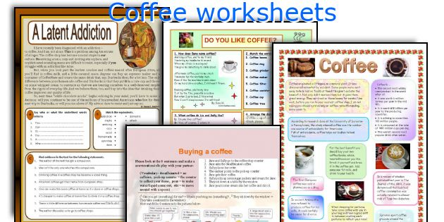 Coffee worksheets