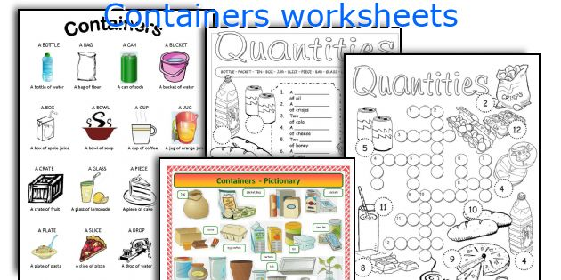 Containers worksheets