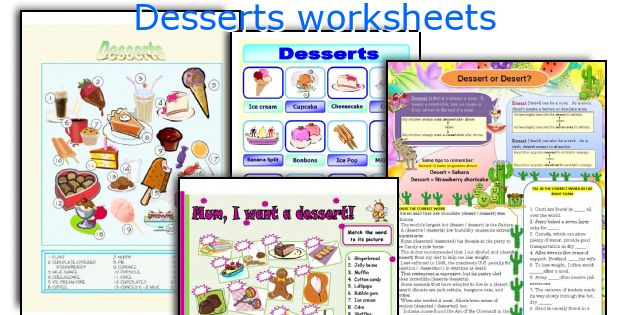Desserts worksheets