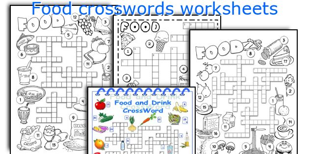 Food crosswords worksheets