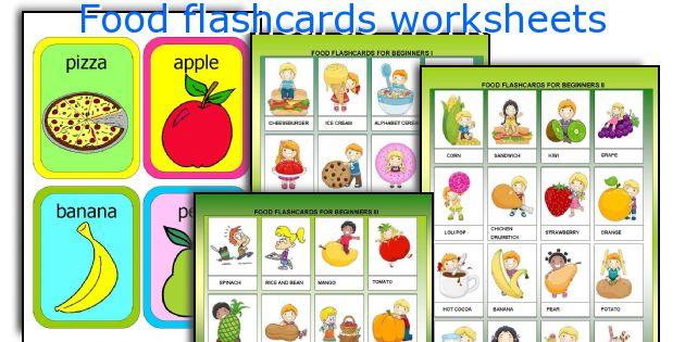 Food flashcards worksheets