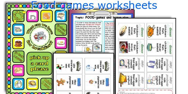 Food games worksheets