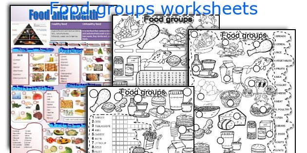Food group worksheets 2nd grade