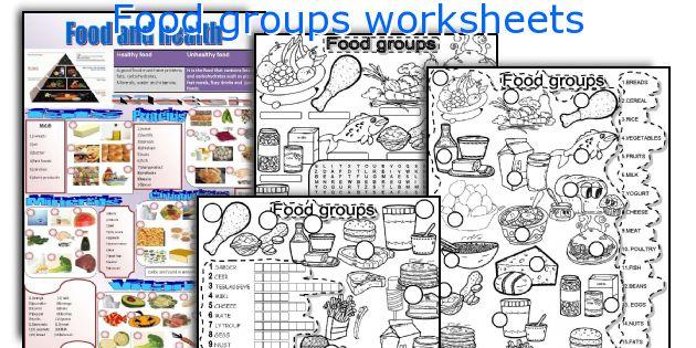 food groups worksheets. Black Bedroom Furniture Sets. Home Design Ideas