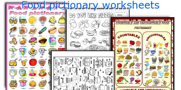 Food pictionary worksheets
