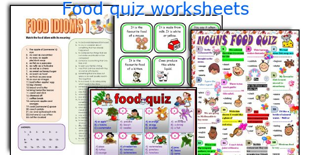 Food quiz worksheets