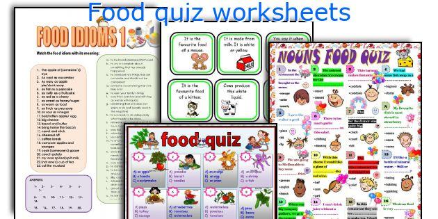 Food Quiz Worksheets. Worksheet. Worksheet Quizzes At Mspartners.co