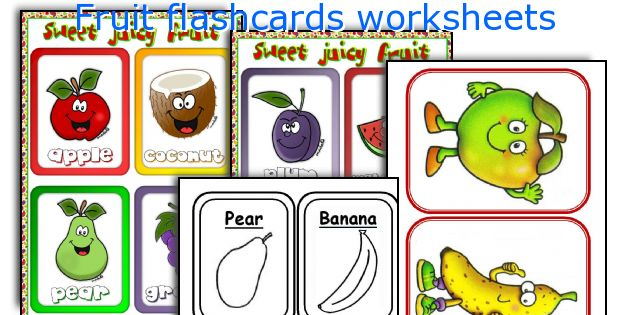 Fruit flashcards worksheets
