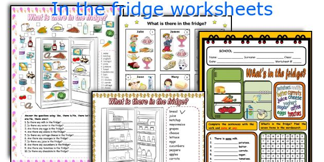 In the fridge worksheets
