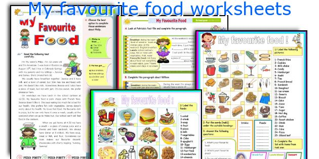My favourite food worksheets