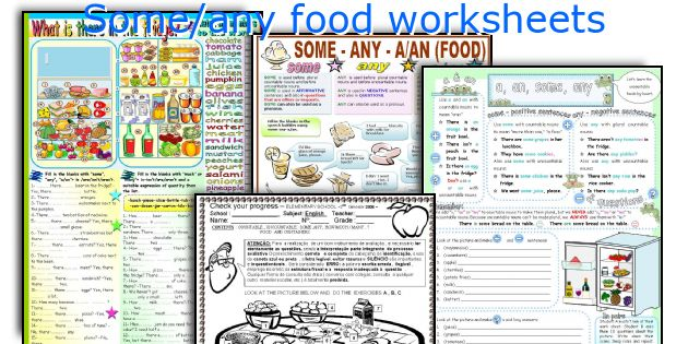 Some/any food worksheets