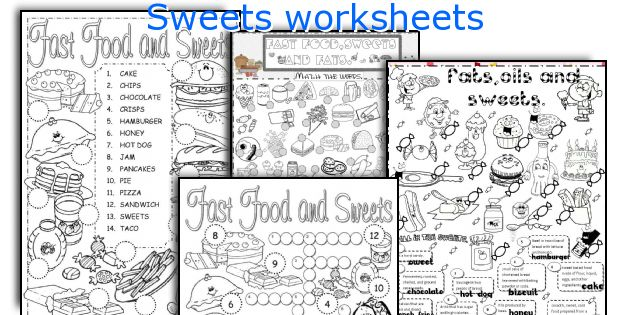 Sweets worksheets