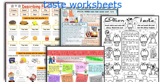 taste worksheets