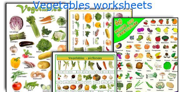 Vegetables worksheets