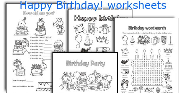 happy birthday worksheets. Black Bedroom Furniture Sets. Home Design Ideas