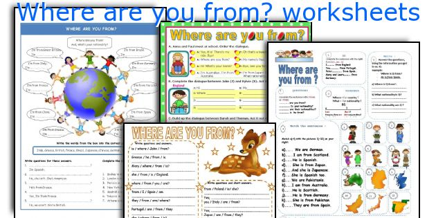Where are you from? worksheets