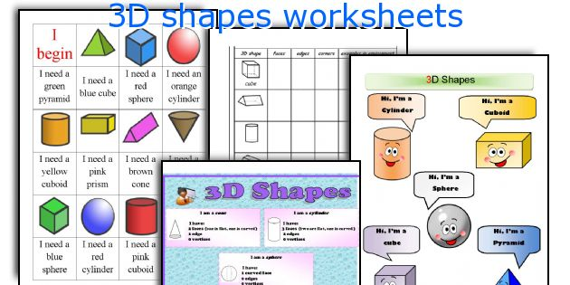 English teaching worksheets 3D shapes – Solid Shapes Worksheet