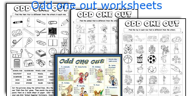 English teaching worksheets Odd one out – Odd One out Worksheets for Kindergarten