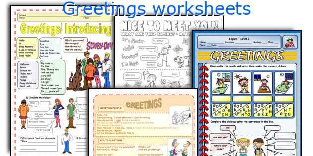 Greetings worksheets