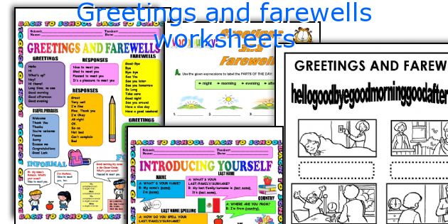 English Teaching Worksheets Greetings And Farewells