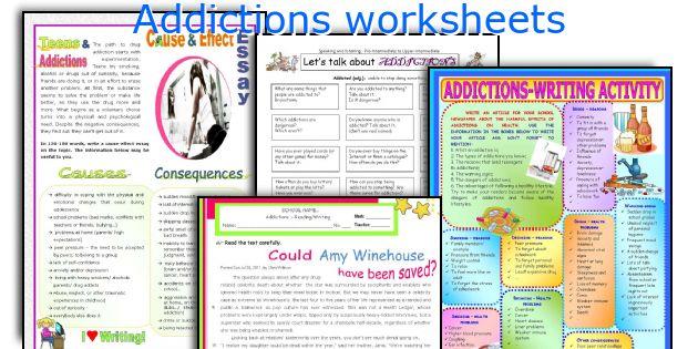 Addictions worksheets