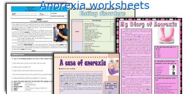 Anorexia worksheets