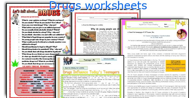 Worksheets Drug Education Worksheets english teaching worksheets drugs