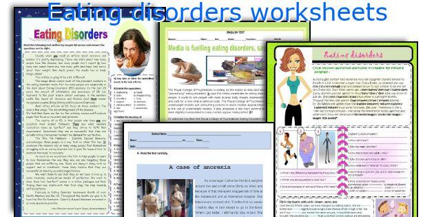 Eating Disorders Worksheets