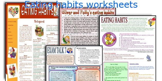 Eating habits worksheets