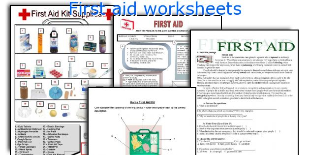 first aid worksheets. Black Bedroom Furniture Sets. Home Design Ideas