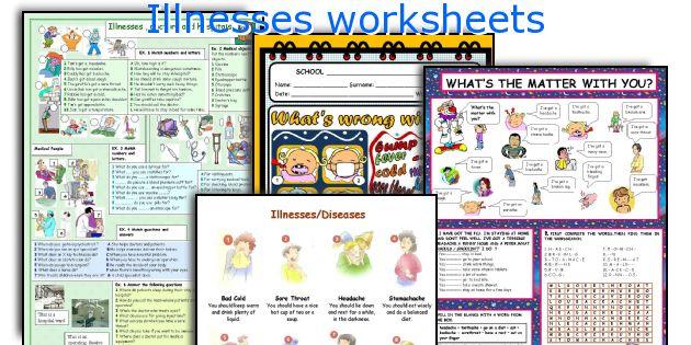 Illnesses worksheets