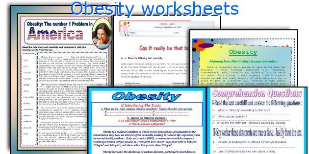 Obesity worksheets